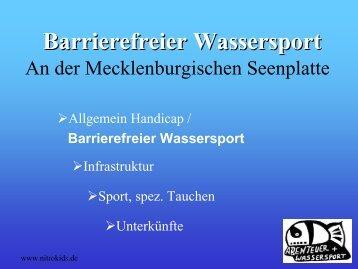 Barrierefreier Wassersport - Leipziger Messe