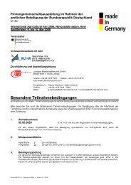 Besondere Teilnahmebedingungen - Leipziger Messe