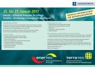 25. bis 27. Januar 2011 - Leipziger Messe