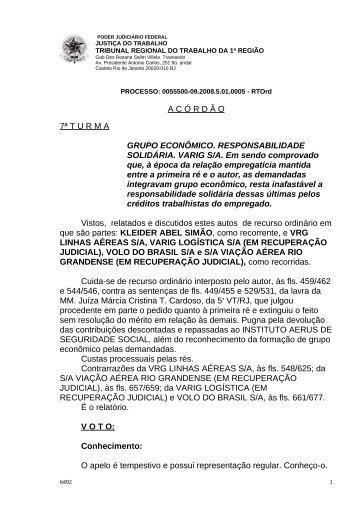 00555000920085010005#15-1 - Tribunal Regional do Trabalho da ...