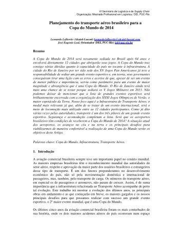 Planejamento do transporte aéreo brasileiro para a ... - CCE PUC-Rio