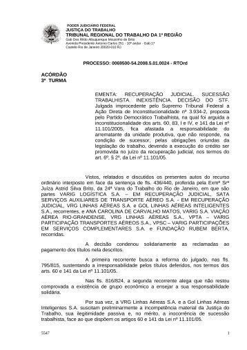 00695005420085010024#04-0 - Tribunal Regional do Trabalho da ...
