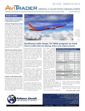 Southwest order keeps 737 MAX program on track - AviTrader