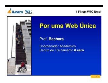 Por uma Web Única - W3C Brasil