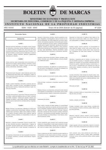 Marcas 05-01-2005 - Instituto Nacional de la Propiedad Industrial
