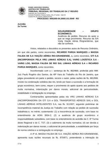 Visualizar/Abrir - Tribunal Regional do Trabalho da 1ª Região
