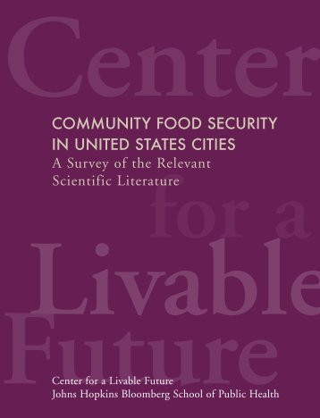 Community Food Security in United States Cities - Johns Hopkins ...