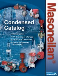 Masoneilan Products Control Valves - Rotary - OSA Valve Services