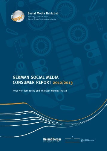 German Social media conSumer report 2012/2013
