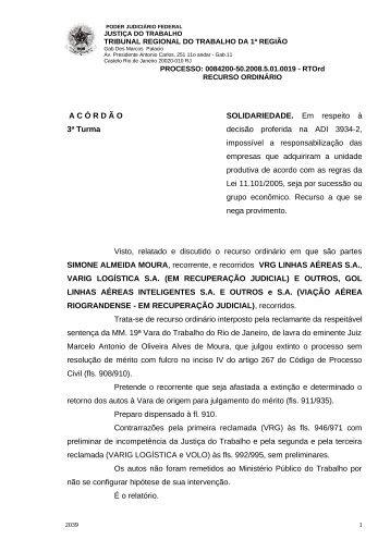 00842005020085010019#04-0 - Tribunal Regional do Trabalho da ...