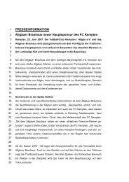 PRESSEINFORMATION Allgäuer Brauhaus neuer Hauptsponsor ...