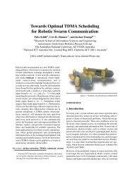 Towards Optimal TDMA Scheduling for Robotic Swarm ...
