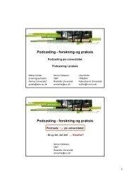 Podcasting - forskning og praksis Podcasting - forskning og praksis