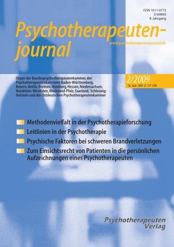 Psychotherapeutenjournal 2/2009