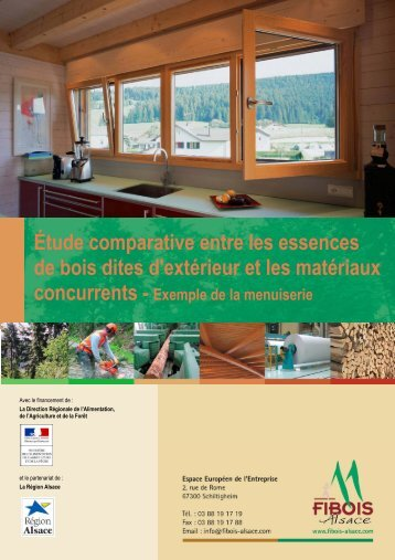 Étude comparative entre les essences de bois dites ... - FIBOIS Alsace