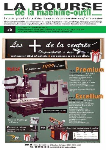 Télécharger le PDF - La Bourse de la Machine Outil