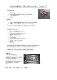 Einbauanleitung DE - Scheinwerfer Corvette C5 - uwf-Interieur