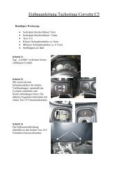 Einbauanleitung Tachoringe Corvette C5 - uwf-Interieur