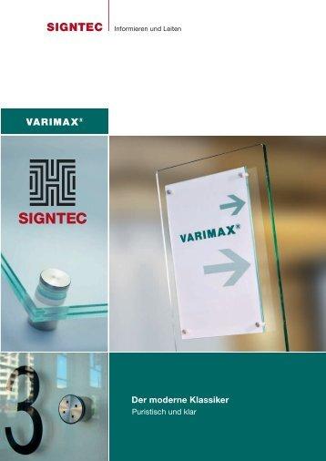 VARIMAX Produktbroschüre - SIGNTEC Leit