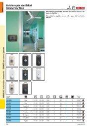 Variatore per ventilatori Dimmer for fans - Relco