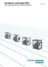 Ventilatori centrifughi RDH per azionamento a ... - Nicotra Gebhardt