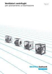 Ventilatori centrifughi per azionamento a ... - Nicotra Gebhardt