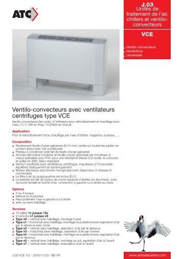 Ventilo-convecteurs avec ventilateurs centrifuges ... - Air Trade Centre