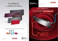 Documentation gamme ventilo-radiateurs ACOVA FASSANE NEO ...