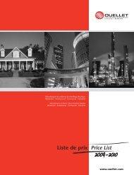Liste de prix Price List - Ouellet Canada