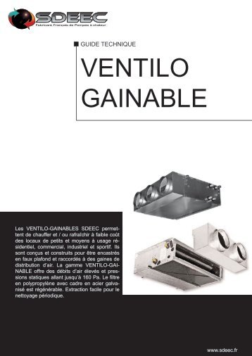 VENTILO GAINABLE - Sdeec