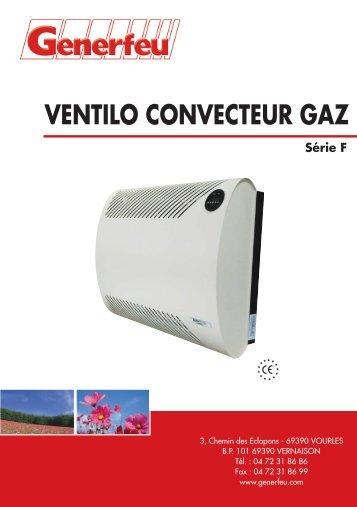 VENTILO CONVECTEUR GAZ Série F - Annuaire