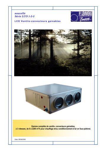 ventilo convecteurs gainables wesper. Black Bedroom Furniture Sets. Home Design Ideas