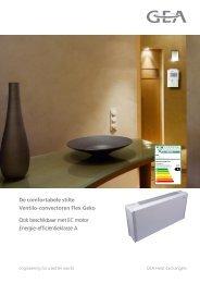 Commerciële brochure Flex Geko - GEA Happel Belgium