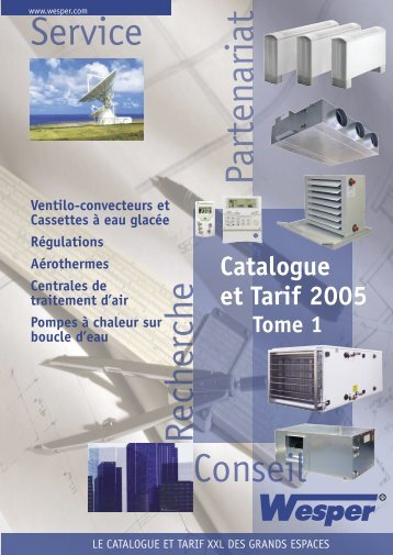 Catalogue et Tarif 2005 Tome 1