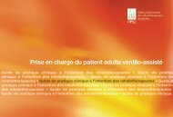 Prise en charge du patient ventilo-assisté - Ordre professionnel des ...