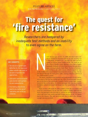 The Quest for Fire Resistance
