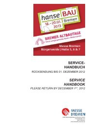 Servicehandbuch (komplett) - hanseBAU