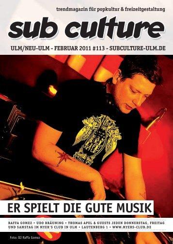 02/2011 - Sub Culture Ulm