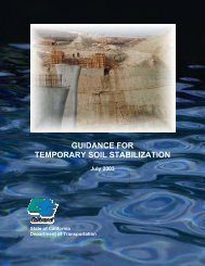 Guidance for Temporary Soil Stabilization - California Department of ...