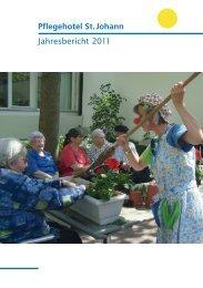 Jahresbericht 2011 Pflegehotel St. Johann