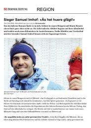 Mürren: Sieger Samuel Imhof: «Äs het huere gfägt!» - News Region ...