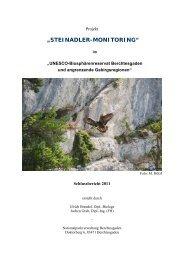 Zum Schlussbericht des Jahres 2011 - Nationalpark Berchtesgaden ...