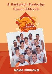 2.Basketball Bundesliga Saison 2007/08 2.Basketball Bundesliga ...