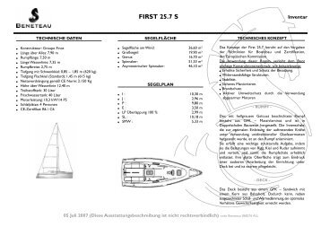 FIRST 25.7 S - Graf Yachting