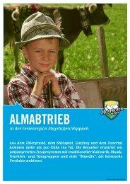 Almabtrieb – Flyer im PDF-Format