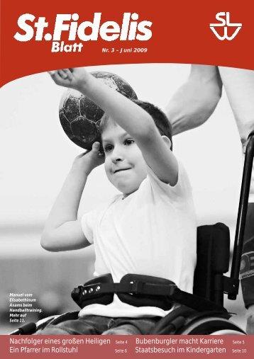 St. Fidelis Blatt Nr. 3/2009 - slw – Soziale Dienste der Kapuziner