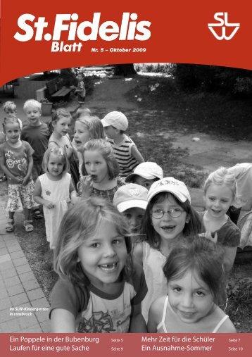 St. Fidelis Blatt Nr. 5/2009 - slw – Soziale Dienste der Kapuziner