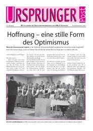 Hoffnung – eine stille Form des Optimismus - Absolventenverband ...