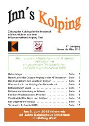 Ausgabe 1 - Kolpinghaus Innsbruck