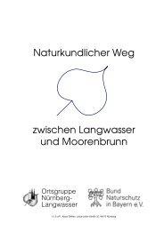 Naturkundlicher Weg zwischen Langwasser und Moorenbrunn